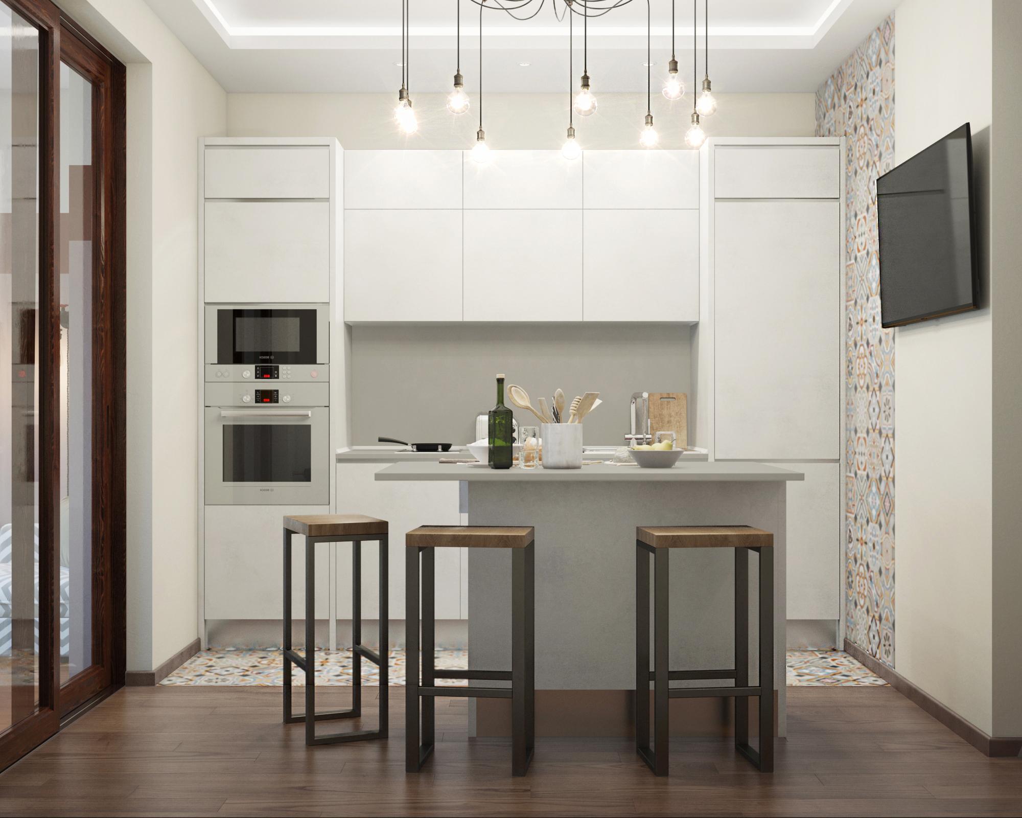 Интерьер 3d кухня дизайн-проект квартиры кухня анна андреева.