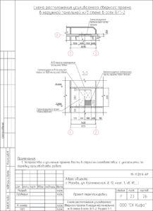 Схема расположения усиливаемого дверного проема