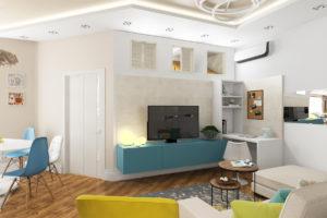 СК-Кифа: Перепланировка квартиры из двушки в трешку