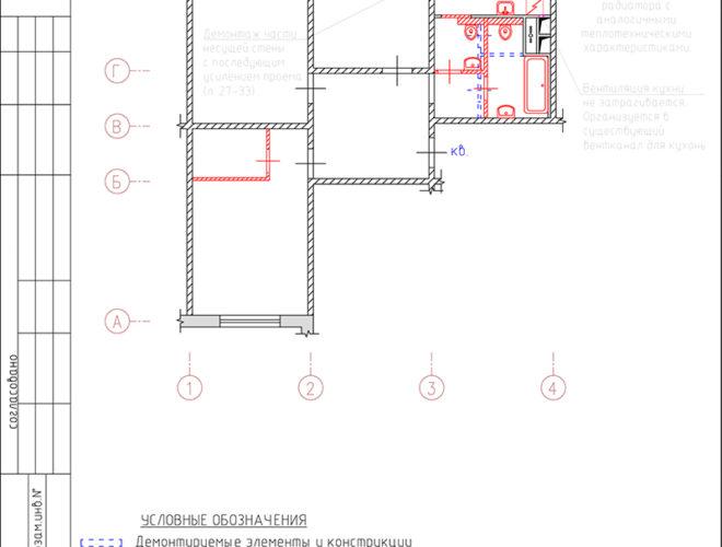 Проект усиления проема в несущей стене