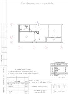 Объединение кухни с гостинной, перепланировка. План квартиры после переустройства